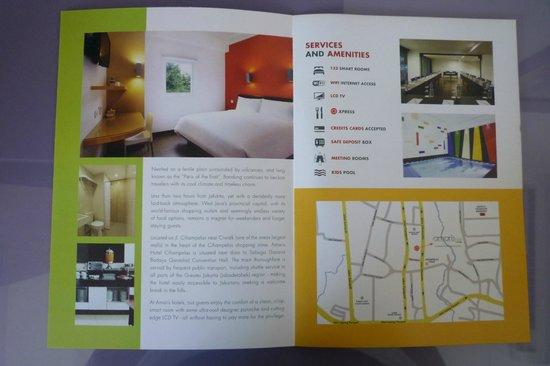 Amaris Hotel Cihampelas: Hotel brochure