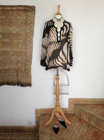 Riad Assakina : One of amazing design piece's of clothing, from Michele's shop.
