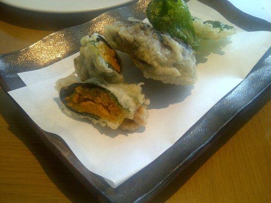 Nobu London: Uni tempura (avoid; waste of urchin!)