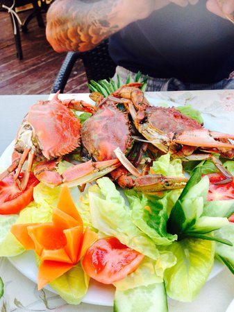 Ayhan Apartments: Crab specially ordered for us.