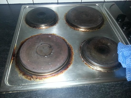 City Apartments Antwerpen : Cooker (after we cleaned it)!
