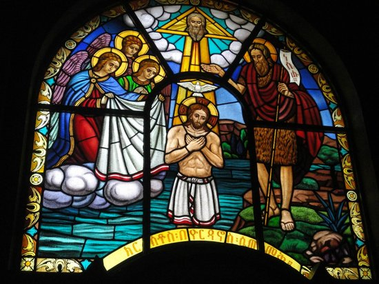Holy Trinity Cathedral: One of the many windows.