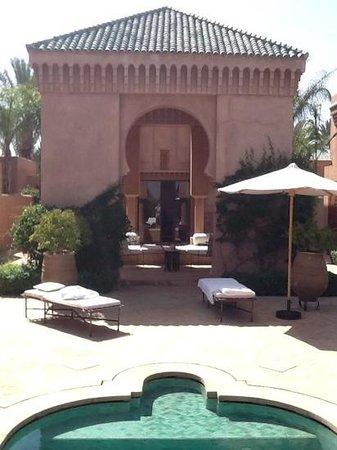 Amanjena : vue de la piscine