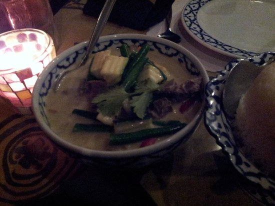 Blue Orchid Thai Restaurant: Beef green curry