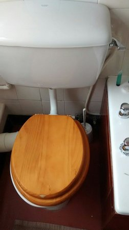 George Hotel Glossop: Tired toilet (room 7)