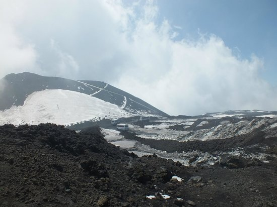 Monte Etna: bus drop off point is still some distance from the vent peak