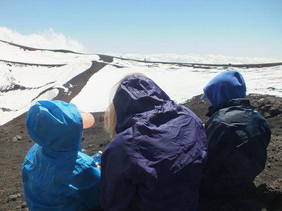 Monte Etna: yes its cold at the top