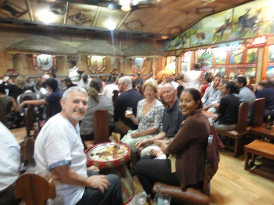 Yod Abyssinia Traditional Food : The restaurant and the table you share with your friends as you eat by hand