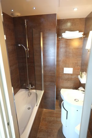 Hotel Saint-Jacques: The bathroom was very tight, requiring some gymnastics to use the toilet