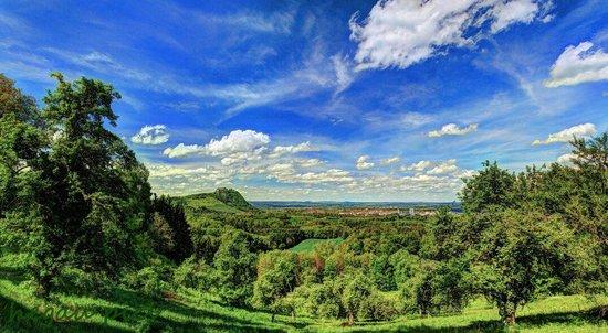 Berggasthof Burg Rosenegg: Blick vom Rosenegg