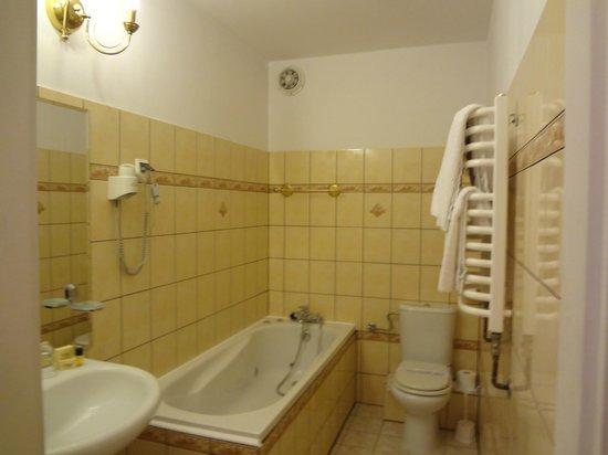 Paszkowka Palace Hotel: vue de la salle de bains