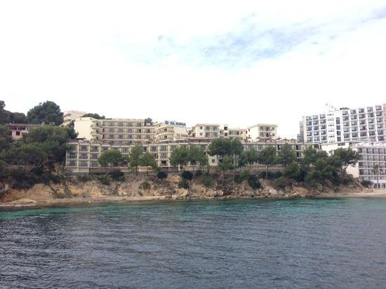 Intertur Palmanova Bay: view of the hotel from a boat trip