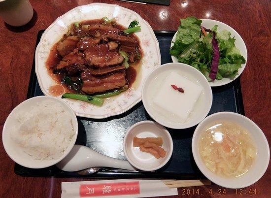 Chinese Cuisine Gagetsu: 週替わりランチです。