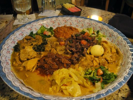 Our meal at the Nile Ethiopian Restaurant - delicious
