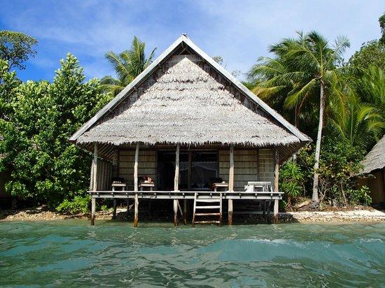 Raja4Divers Resort: Preuve qu'on est les pieds dans l'eau