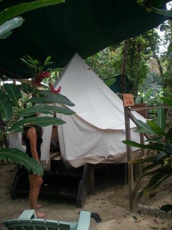 Palmar Beach Lodge : Zelt von aussen