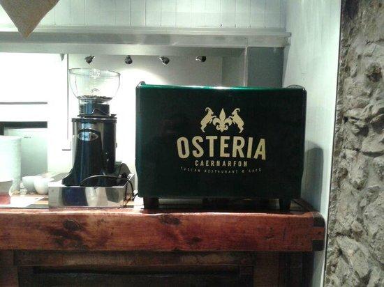 Osteria Caernarfon: Espresso Coffee !