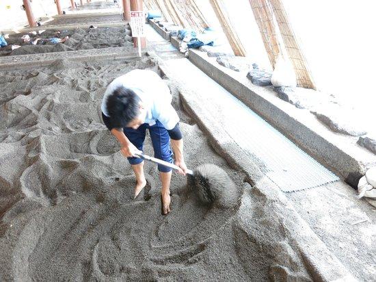 Ibusuki Onsen : sand  bath