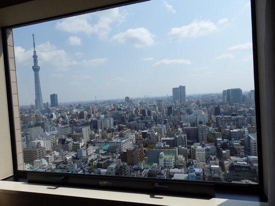 Dai-ichi Hotel Ryogoku: 私の部屋の窓からの良い眺め