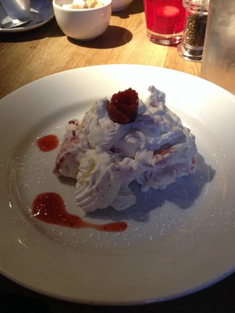 The Old Bull's Head: Strawberry Eton Mess! (With a strawberry rose :)))