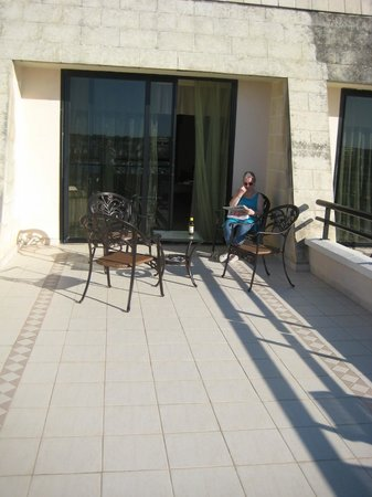 Excelsior Grand Hotel: Our room's patio