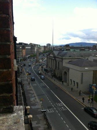 The Charles Stewart Dublin: vue de notre chambre au quatrieme etage