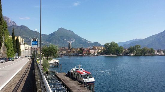 Hotel Sole Relax & Panorama: View of Riva del Garda from a distance