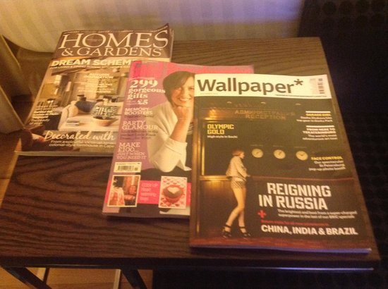 Hotel Indigo London-Paddington: Great lifestyle magazine collection, with little self-promotion.