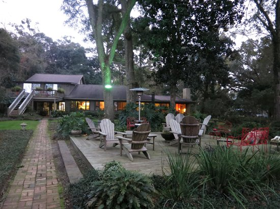Bay Breeze Bed & Breakfast: Winter view from the bottom of the garden to Bay Breeze Guest House