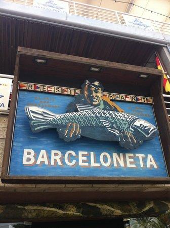 Restaurante Barceloneta: Look for it