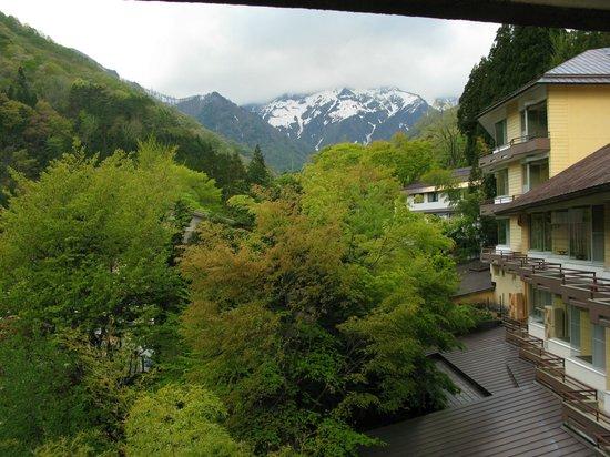 Ryokan Tanigawa: 部屋から谷川岳を望む。