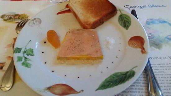 Bistrot L Ancienne Auberge 1900: Le foie gras avec pamplemousse confit.
