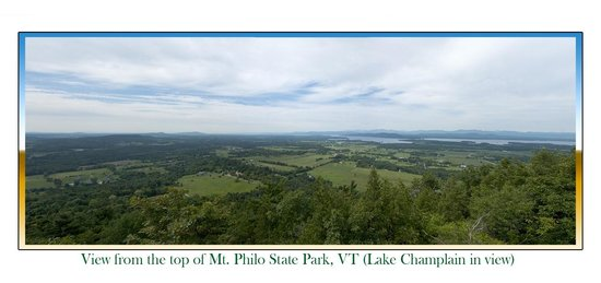 Mt. Philo State Park: Pano from the top of Mt. Philo, VT