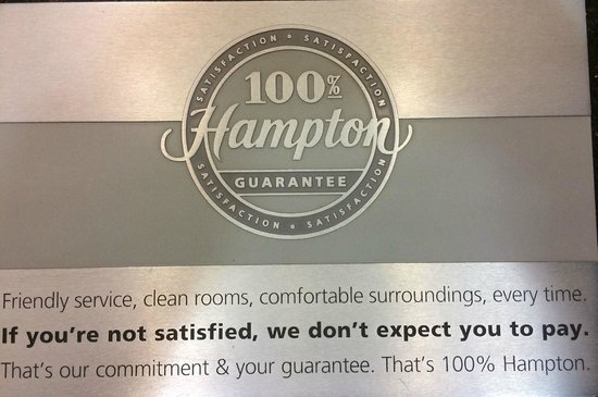 Hampton Inn Auburn: 100% Hampton