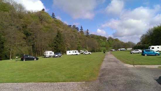 Exe Valley Caravan Site : View from the entrance