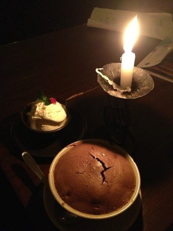 Places Restaurant & Bar: chocolate soufle with ice cream