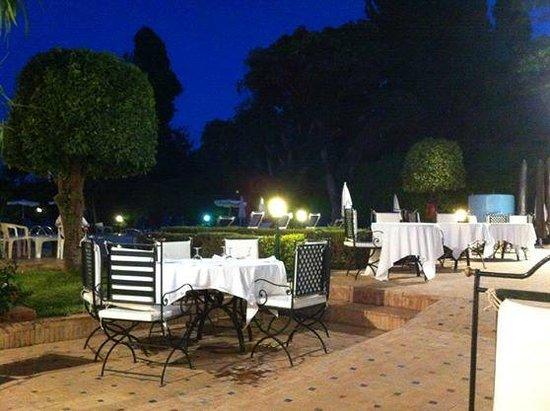 Hotel Chems : Terrasse du restaurant/snack