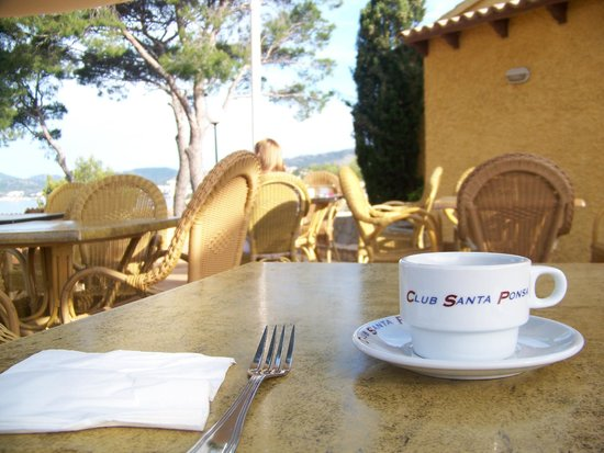 Club Santa Ponsa : Outside dining great views