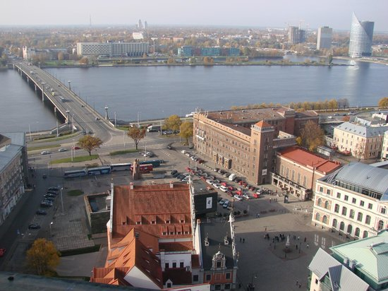 View of Riga from St Peter's Church Tower: Cмотровые площадки церкви Святого Петра