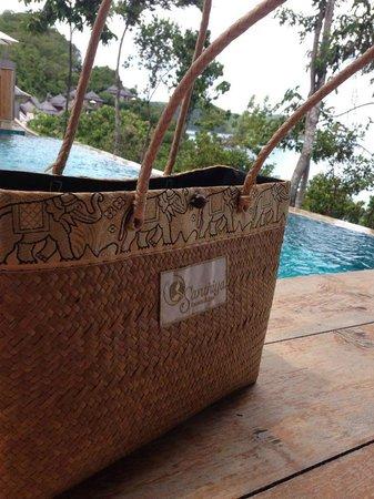 Santhiya Koh Yao Yai Resort & Spa: A tote bag provided by the hotel.