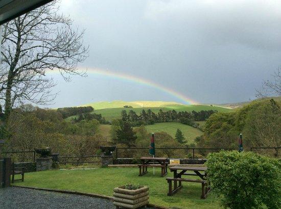 George Borrow Hotel: Rainbow over hills
