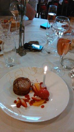 Restaurant L' Ami Fritz : Bougie d'anniversaire