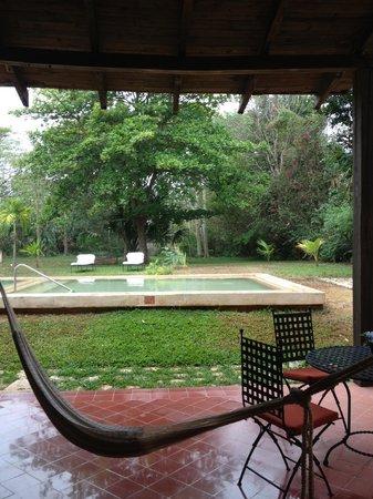 Hacienda Santa Rosa, A Luxury Collection Hotel: La petite piscine devant notre chambre