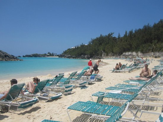 Fairmont Southampton: The Fairmont's beach area, you can snorkel here too