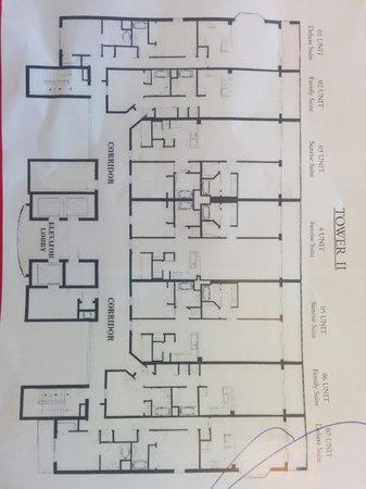 Blue Heron Beach Resort: Floor Plan