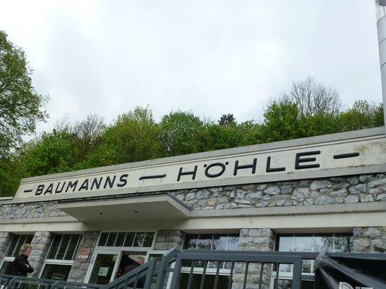 Rubelander Tropfsteinhohlen: Baumannshöhle Eingang