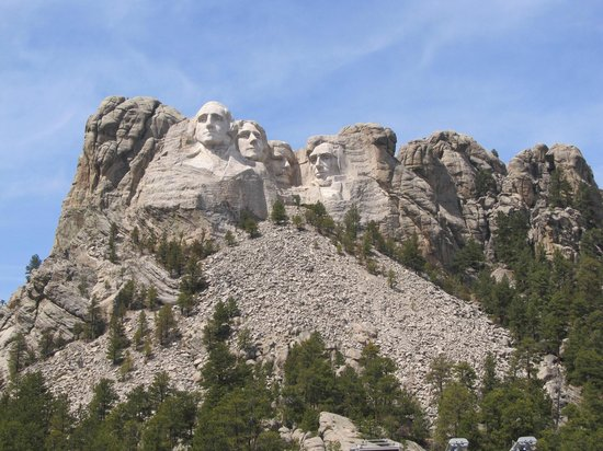 Mount Rushmore National Memorial : The sun came out!