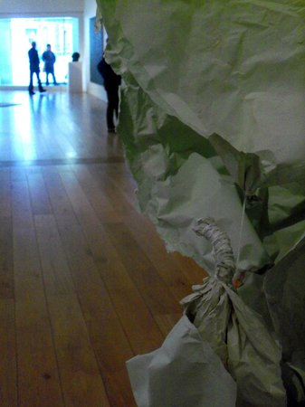 Nottingham Contemporary Art Gallery: Light and crumpled