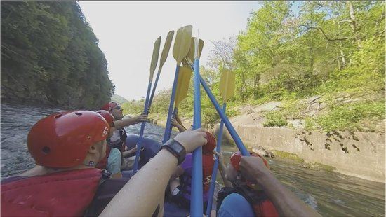 Big Creek Expeditions : Paddle high five