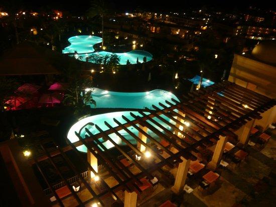 Vincci Seleccion La Plantacion del Sur: Evening view from our balcony